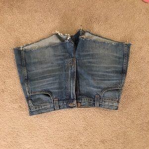 J Brand high rise jean shorts